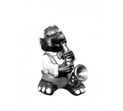 Скульптура Крот с саксофоном арт. 001