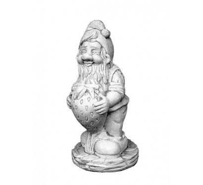 Скульптура Гном с клубникой арт. 041