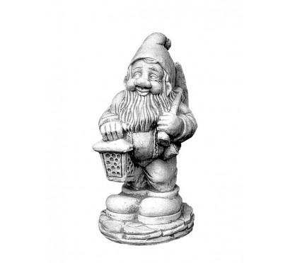 Скульптура Гном с фонариком  (042)
