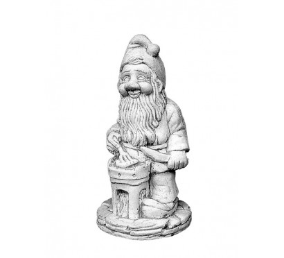 Скульптура Гном с вилкой  (043)