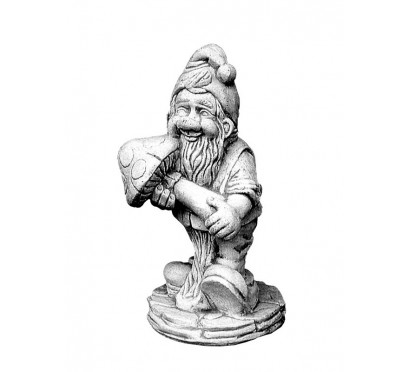 Скульптура Гном с грибом арт. 044