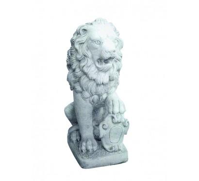 Скульптура Лев со щитом правый  (049)