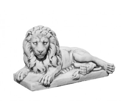 Скульптура Лев лежачий левый арт 095