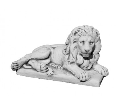 Бетонная скульптура Лев лежачий правый арт 096