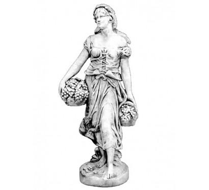 Скульптура Женщина с виноградной корзиной  (240)
