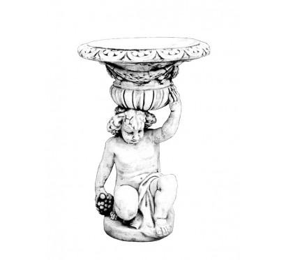 Бетонная скульптура Ваза Мальчик с корзиной арт. 258