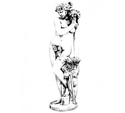 Бетонная скульптура Женщина с ромашкой арт 347