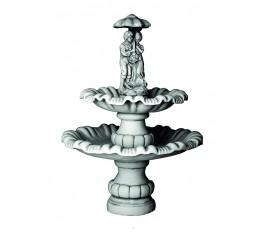 """Двухъярусный фонтан """"Мальчик с девочкой под зонтом""""  (790)"""