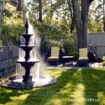 Дачный фонтан - изюминка ландшафта