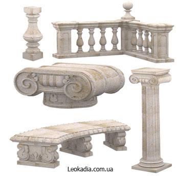 Какие бывают декоративные элементы из бетона