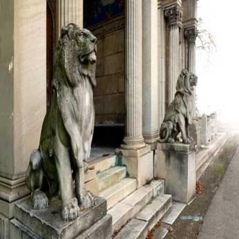 Где можно использовать бетонные скульптуры льва
