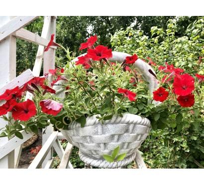 Уличная ваза Корзинка (023) с цветами