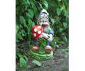 Скульптура Гном с грибом  (044)