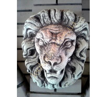 Морда льва настенная арт. 070 цвет: антик