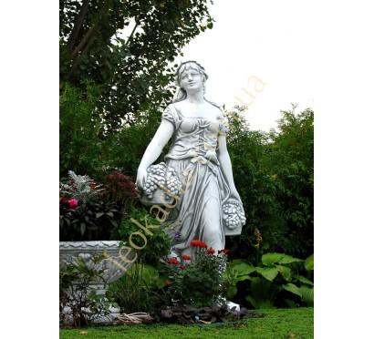 """Скульптура арт. 240 """"Женщина с виноградной корзиной"""""""