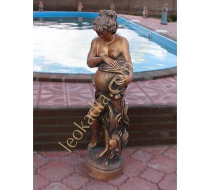 """Скульптура арт. 344 """"Женщина с кувшином"""" (цет- бронза)"""