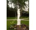 "Скульптура ""Женщина с ромашкой"" арт. 347 на тумбе арт. 336"
