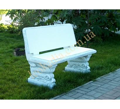 Скамейка садовая со спинкой арт. 352