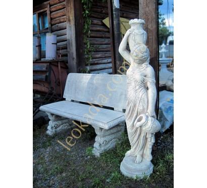 """Скульптура арт. 381 """"Женщина с 2-мя кувшинами"""", скамейка арт. 352"""