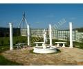 Комплексное благоустройство - фонтан, колоннада, скамейки