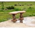 Благоустройство приусадебной территории фонтан, скамейки