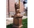 Бетонная скульптура Лев со щитом левый арт. 048