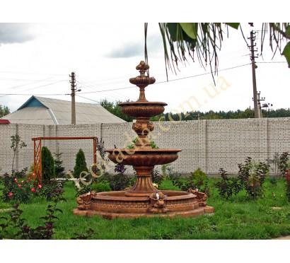 Фонтан с бассейном в бронзовом цвете - коттедж в Бортничах