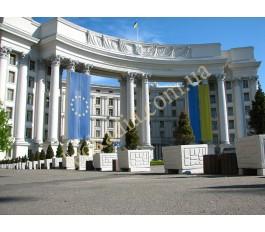 благоустройство территории возле МИД Украины- цветочники арт. 140