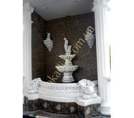 Пристенный фонтан арт. 027 с бассейном арт. 031