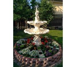 """Двухъярусный фонтан арт. 778 """"Мальчик с рыбкой"""" в цвете капучино"""